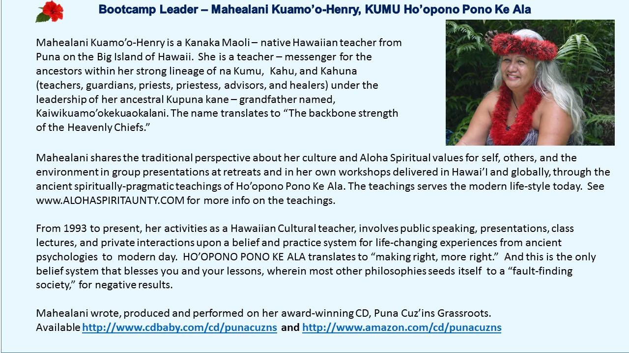Winning Edge Leadership Mahealani Kuamo'o Henry Aloha Aunty Ho;opono Pono